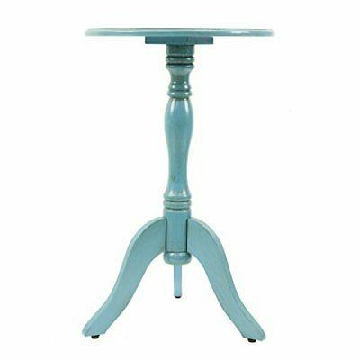 fr1566 simplify pedestal accent table turquoise blue