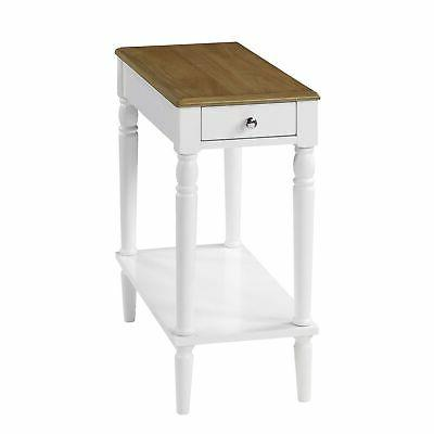 french country no tools chairside table