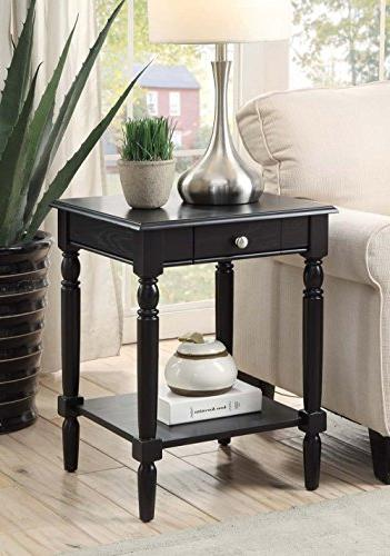 Convenience Concepts French Country End Table, Multiple Fini