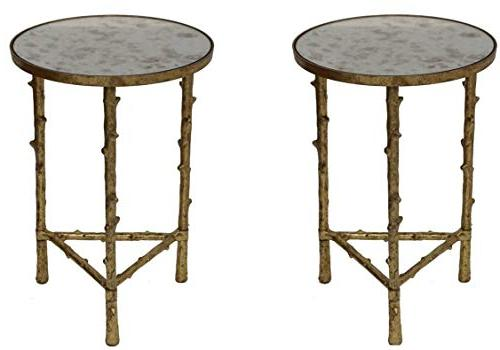 glostrup round metal side table