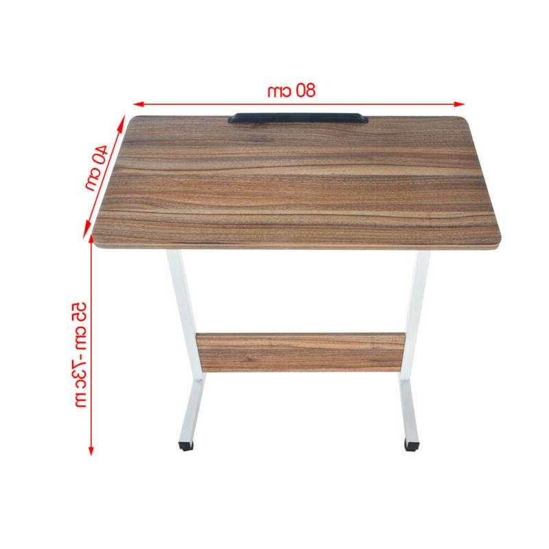 Floding Sofa Side Table Laptop PC Stand Beside End Table Tray