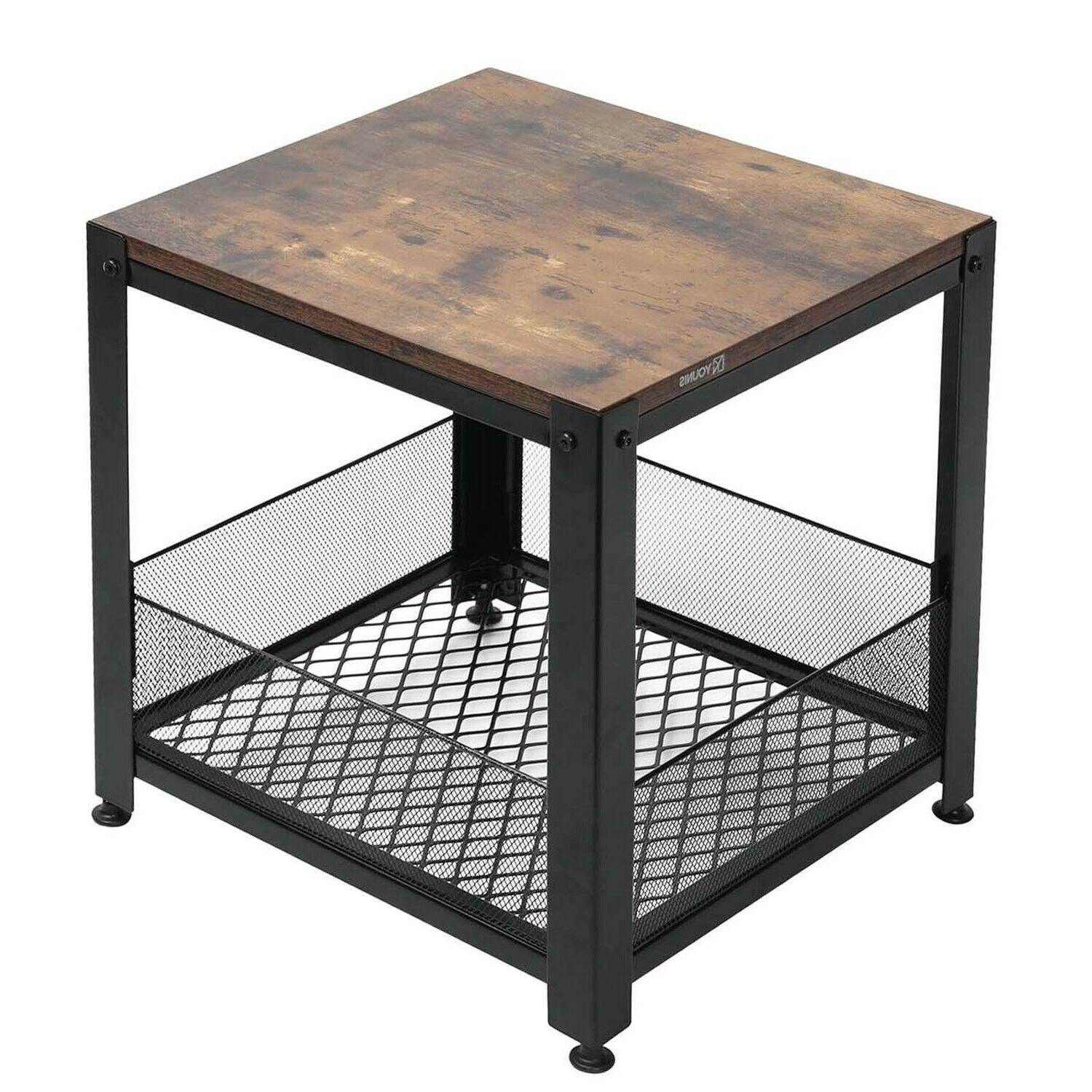 Industrial Table with Side Table for Room