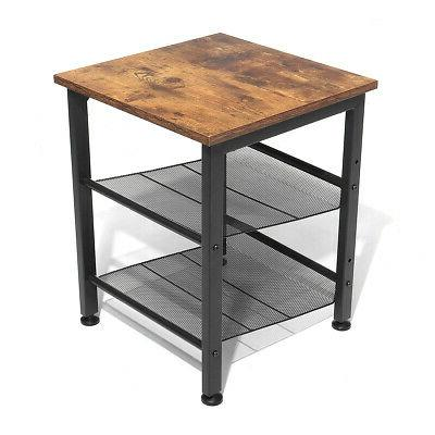 Industrial Table Sofa Accent Bedside Livingroom Coffee