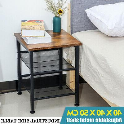 Industrial End Sofa Accent Bedside Storage Livingroom Coffee