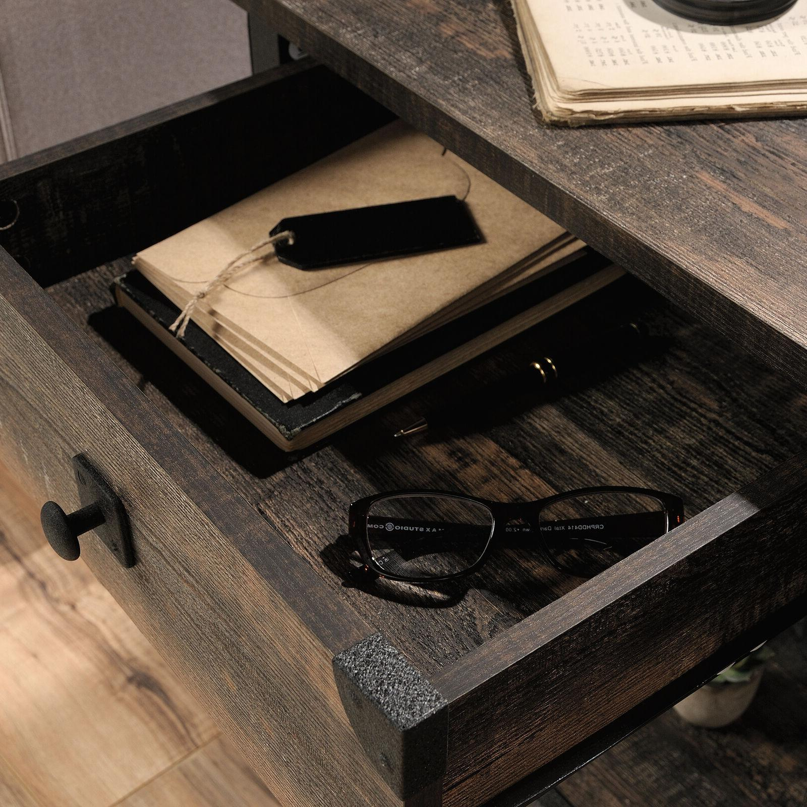 Industrial Side Sofa Console Rustic