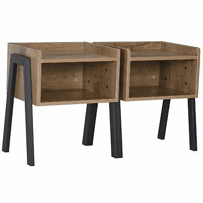 Industrial Small Table, Set of 2, with