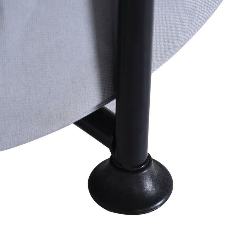 Living Room Dining Wood Side Table Fabric Black Three Layer
