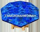 Marble Coffee Side Table Top Random Real Lapis Lazuli Patio