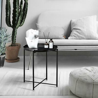 Metal End Small Side Round Table for Room