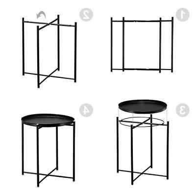 Metal End Table Side Table Round Table for Sofa Room