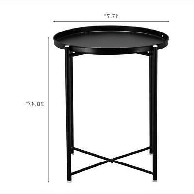 Metal Table Side Table Round Table Sofa Living Room