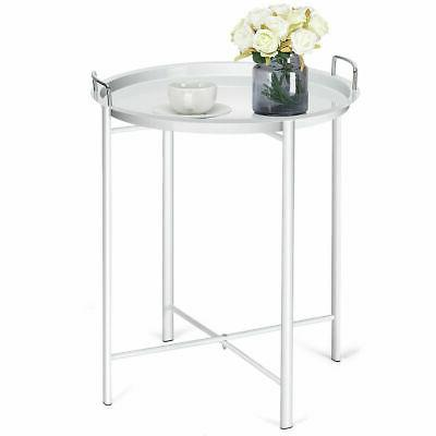 metal tray table round end table sofa