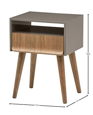 Rivet Mid-Century Table, Grey and
