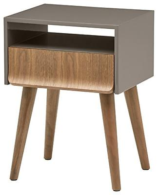 mid century lacquer side table grey