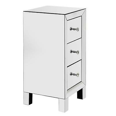 Mirrored Table Table Glass Nightstand Furniture