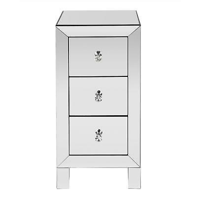 mirrored 3 drawer end table sofa table