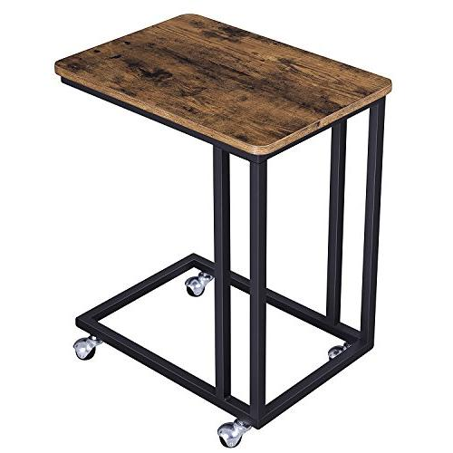mobile snack side table