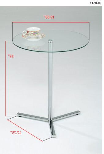 Kings Modern Accent Side End Table, /