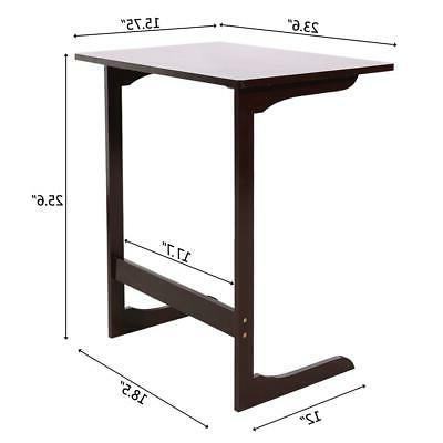 Stylish Table Console Shaped Laptop Desk TV Coffee Color
