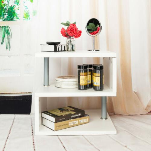 Modern Coffee Table End Shelf Storage