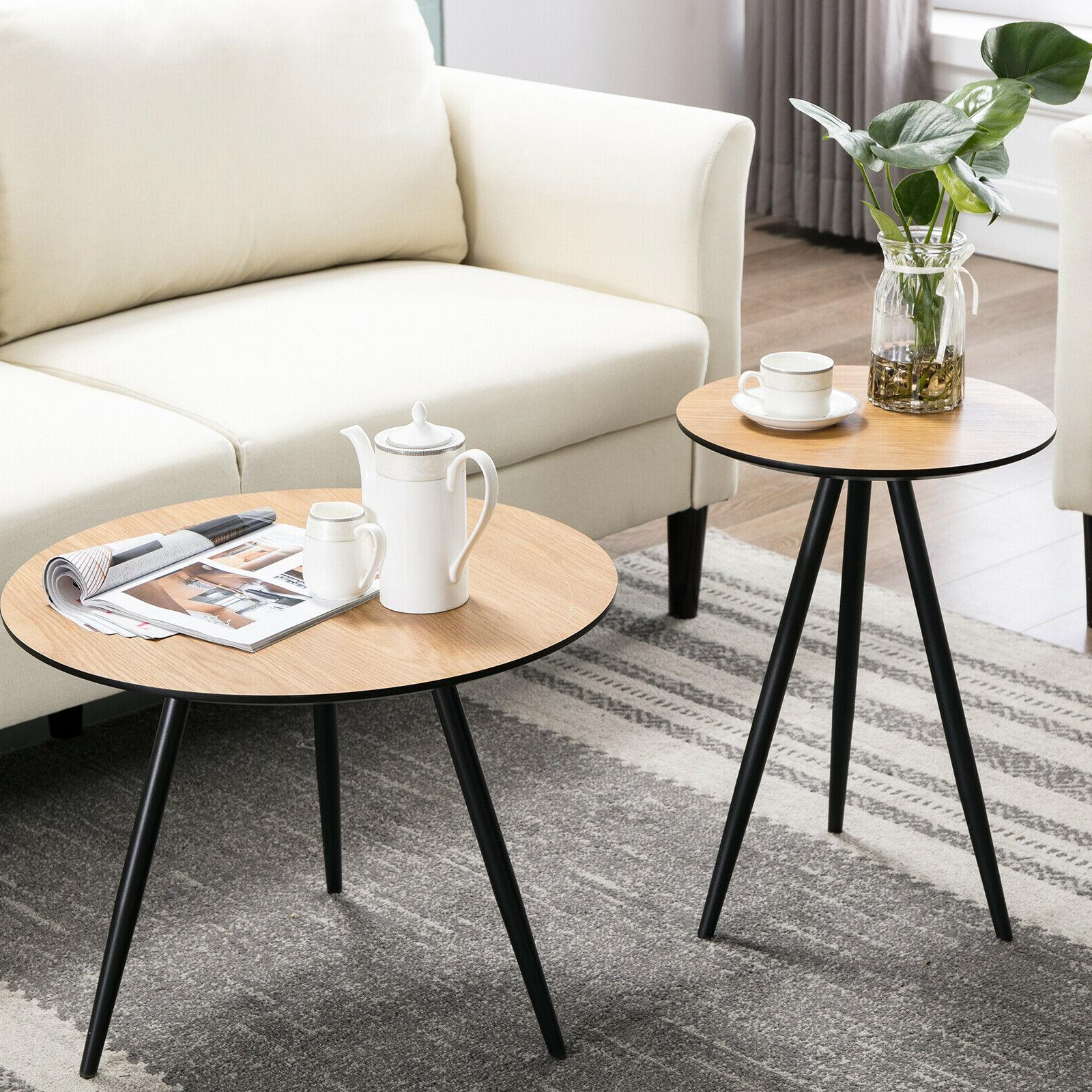 modern coffee table round side desk end