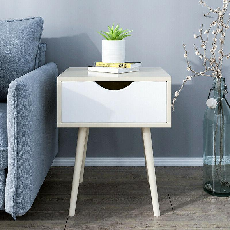 Modern Side Table Bed End Table Newspaper Storage Furniture New
