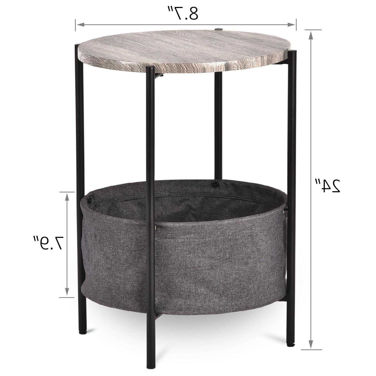 Modern Table with Basket Storage