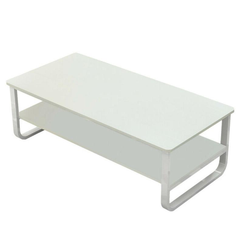 2 Tier Side End Coffee Table Storage Sofa Furniture