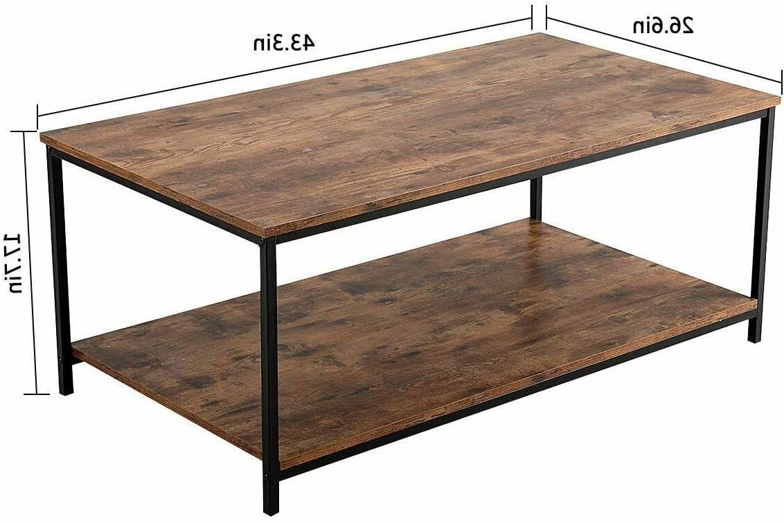 Industrial Storage Shelf Cocktail Table