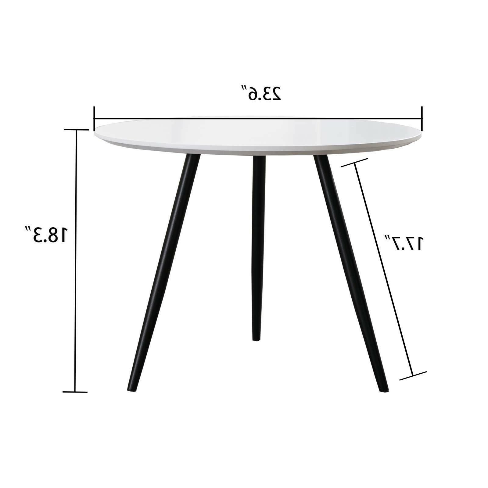 Modern Wood Round Tables Console Sofa Side Table Room