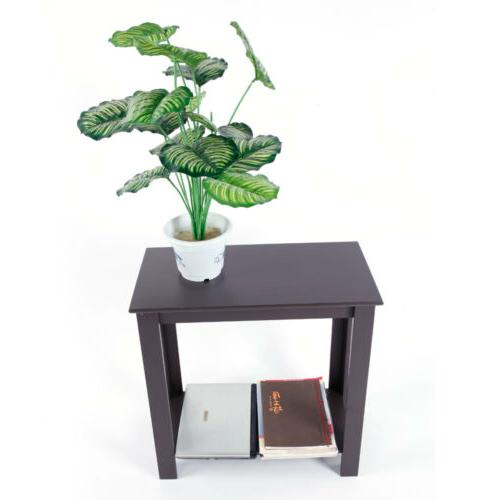 Narrow Brown Chair Table Coffee End Furniture