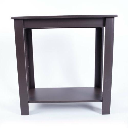 Narrow Table Wooden End Shelf Furniture
