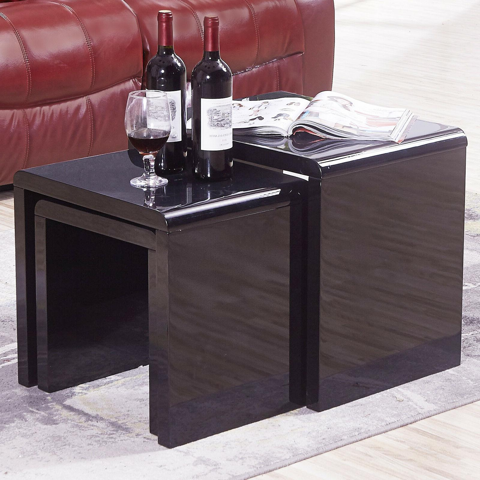 Nest of Table Modern End High Gloss Room Furniture