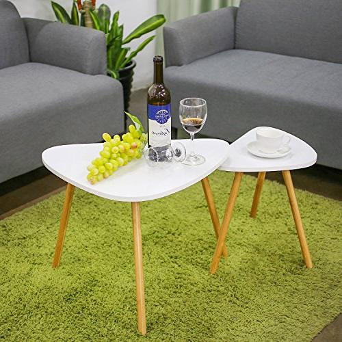 HOMFA Coffee Tables Modern Table for Home and Office