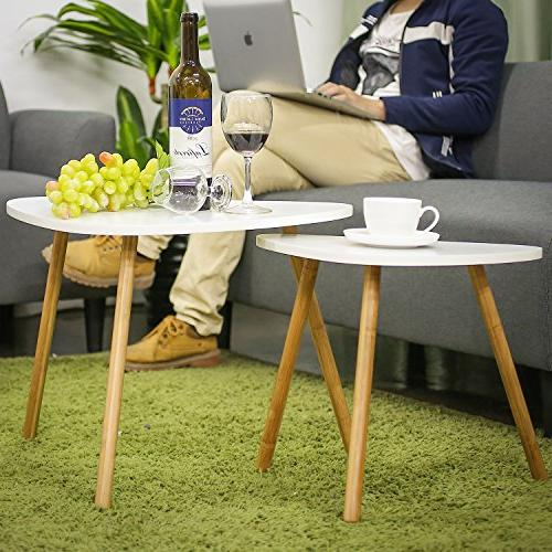 HOMFA Nesting Coffee Tables Table Home and Office