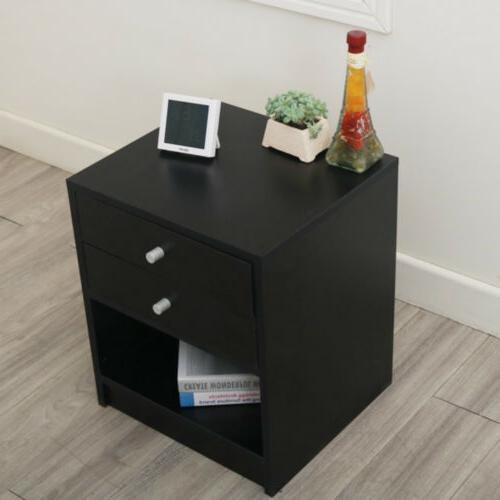 Nightstand Bedroom Side Modern Storage