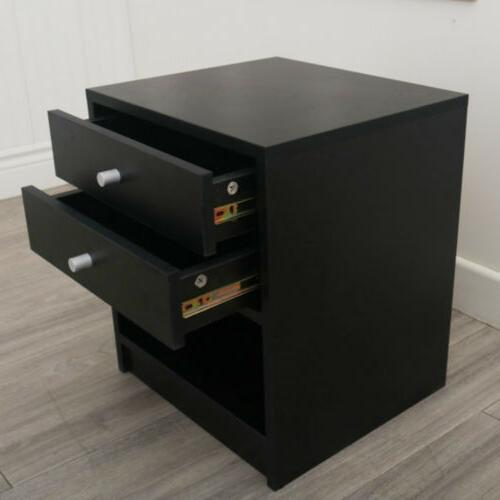 Nightstand Bedside Bedroom Side Accent Modern Storage