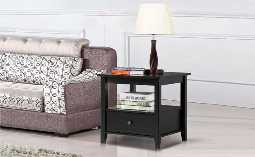 Nightstand End Accent Modern Drawer