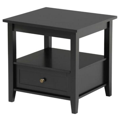 Nightstand Side Accent Modern Drawer