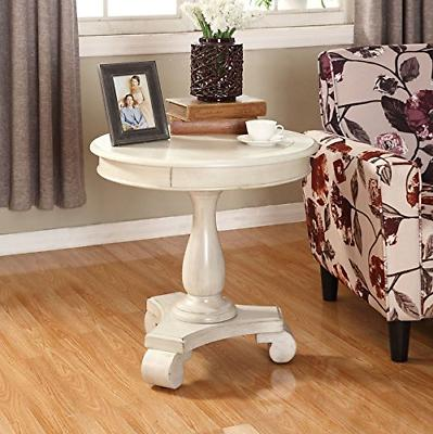 oc0024wh rene round wood pedestal side table