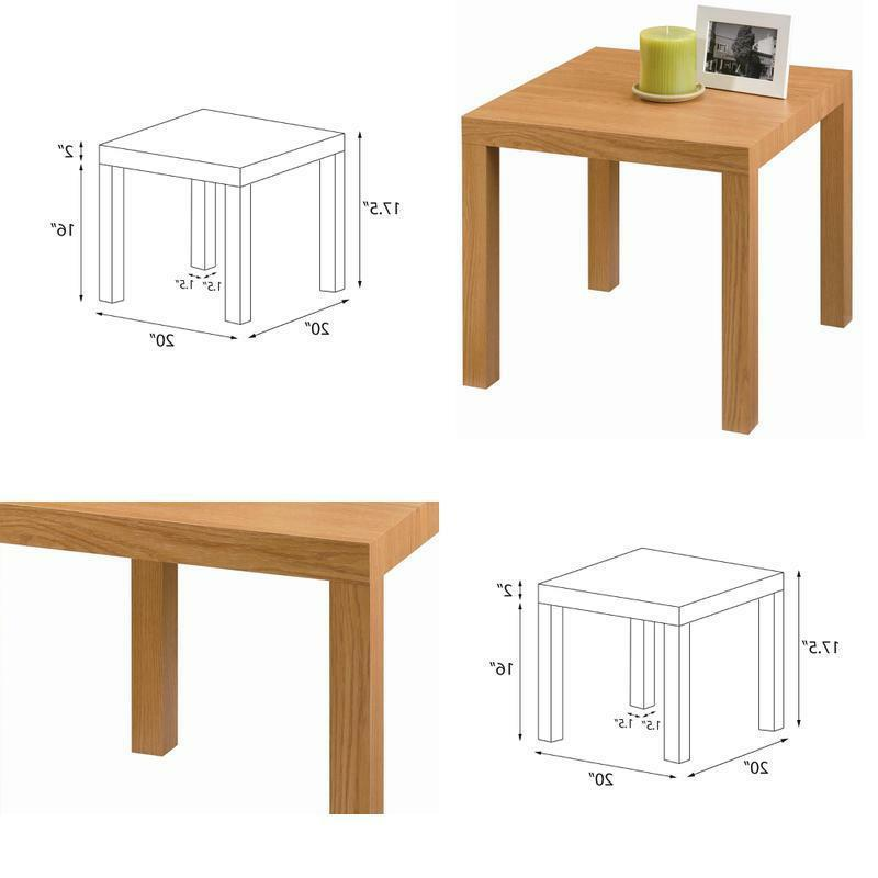 DHP Parsons Modern End Table, Natural Stain 20 x 20 x 17.7 i
