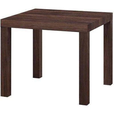 parsons square end table multiple colors
