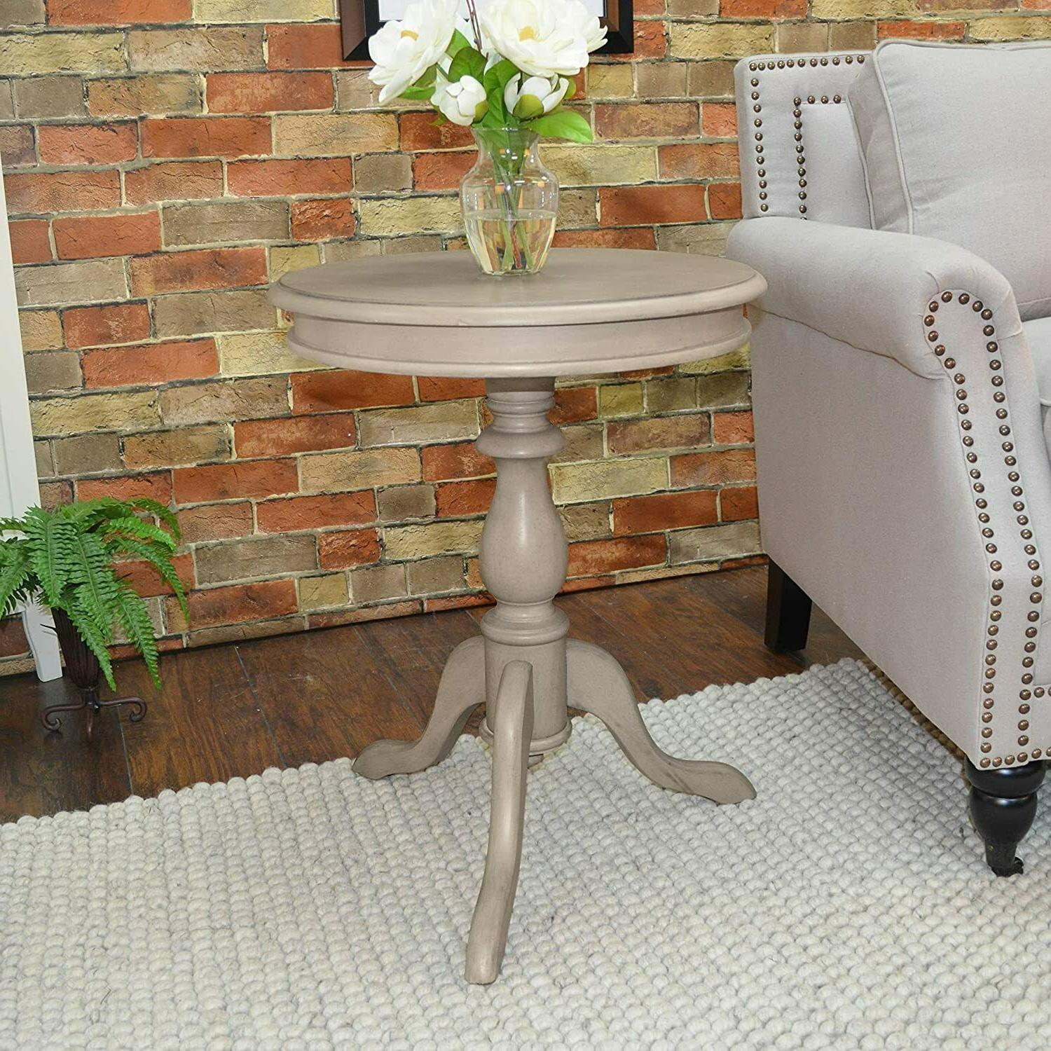"""Round Wood Table Entryway Small Accent Display End 19.5"""""""