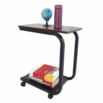 C-shaped Sofa End Side Table TV Tray Laptop Desk Removable S