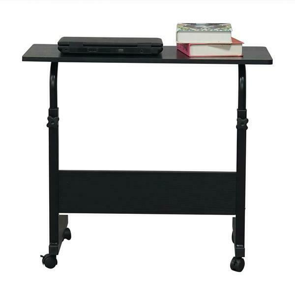 Removable Chipboard&Steel Side Table Laptop Desk with Wheels