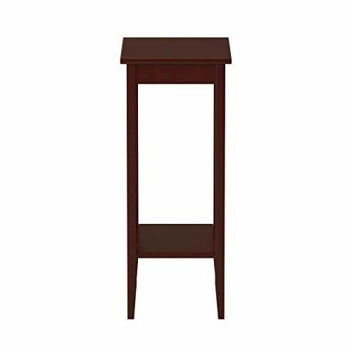 DHP Rosewood End Table Stand Home Office Living Room
