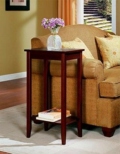 DHP Rosewood Small Table Stand Office Room