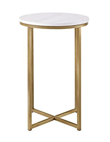 WE Round Side - Marble/Gold