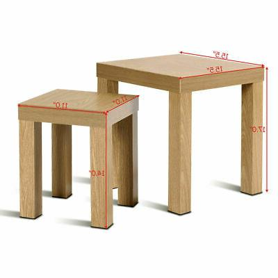 Set of Coffee Table Tables Room Decor Wood