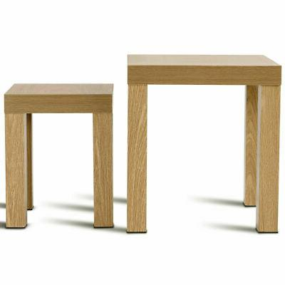 Set of Coffee Tables Living Decor Wood Color